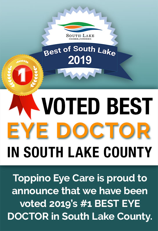 Toppino Eye Care Voted Best Eye Doctor in South Lake 2019