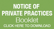 Button to Notice of Private Practices Booklet Downloadable PDF